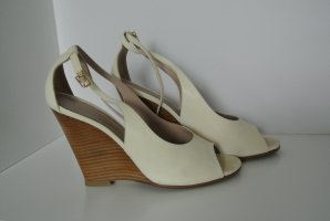 Chloé Wedge Pumps natural white leather