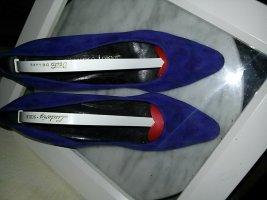 Pumps von Gianmarco Lorenzi - Gr. 38- blau/lila