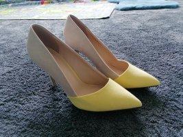 Graceland Zapatos de punta beige claro-amarillo pálido