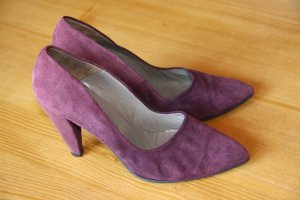 Paco Gil Pointed Toe Pumps purple leather