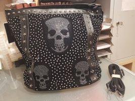 Pure Glitzer Totenkopf Tasche
