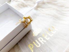 Purelei Pendientes tipo aro color oro