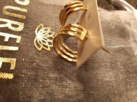 Purelei Złote kolczyki piaskowy brąz