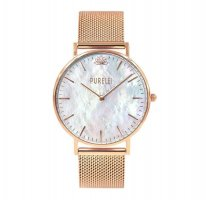Purelei Watch With Metal Strap white-rose-gold-coloured
