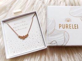 Purelei Naszyjnik w kolorze różowego złota
