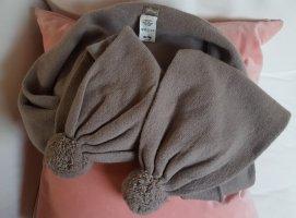 Flip*flop Bufanda de lana color plata-marrón grisáceo tejido mezclado