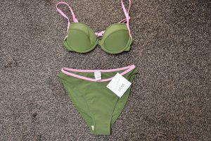 #Push up Bikini, Gr. 36, Cup B, #oliv-rosa, #Beach Time