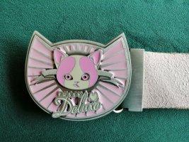 Pussy Deluxe Desire Belt, Gürtelschnalle, massiv Metall, Emaille, Kitty, NEU