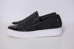 Sneaker slip-on nero-bianco