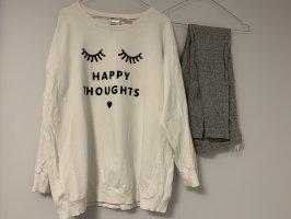H&M Pijama blanco-gris