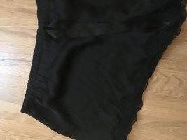 Pyjama Short Nachtwäsche Spitze schwarz