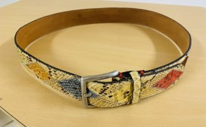 Fausto colato Leather Belt multicolored