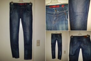 QS by s.Oliver Low Rise jeans donkerblauw-blauw Gemengd weefsel