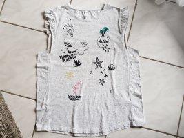 "QS by s.Oliver T-Shirt "" beige melange "" Gr. XL "" neuwertig !!!"