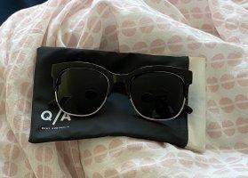 Quay Angular Shaped Sunglasses black-light grey acetate