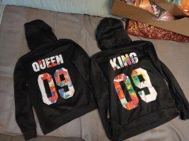 Queen King Partnerpullover Hoodie Gr.M/L