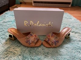 R.Polanski Heel Pantolettes nude leather