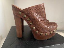 Rachel Zoe Chaussure à talons carrés cognac-bronze cuir