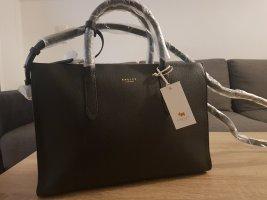 Radley Arlington Court Handtasche genarbtes Kalbsleder schwarz