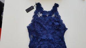 Guess Vestido de encaje azul