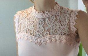 Orsay Top di merletto rosa pallido