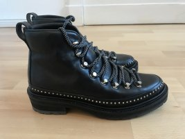 Rag & bone Lace-up Booties black leather