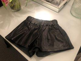 Rag & Bone Echtleder Hose Shorts Hot Pants Biker