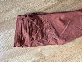 Rag & bone Jeans skinny arancione scuro-ruggine