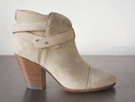 Rag & Bone Women's Light Gray Suede Harrow Ankle Boot