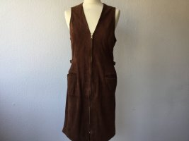 Lauren by Ralph Lauren Leather Dress brown suede