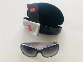 Ralph Lauren Lunettes de soleil ovales noir-blanc