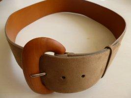 Ralph Lauren Collection, Gürtel, Velours, beige-taupe, Gr. L, neu, UPE: € 400,-
