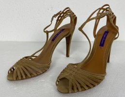 Ralph Lauren Collection, Pumps, Camel, Suede, 39B, € 600,-
