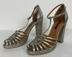 Ralph Lauren Collection, Pumps, silber, Leder, 39, neu, € 650,-