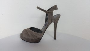 Ralph Lauren Collection, Pumps, Veloursleder, grau, 38, neu, € 650, -
