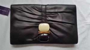 Ralph Lauren Collection, Stone Clutch, Leder, schwarz, neu, € 2.000, -.