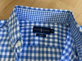 Ralph Lauren Koszulowa bluzka biały-niebieski neonowy Bawełna