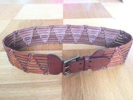 Ralph Lauren Cintura intrecciata cognac-bronzo