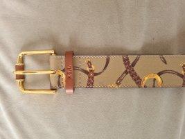 Ralph Lauren Cinturón de cuero de imitación beige