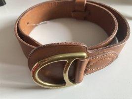 Ralph Lauren Cinturón de cuero marrón Cuero