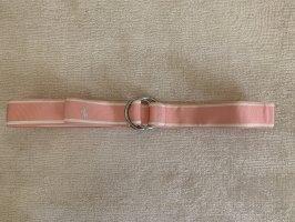 Ralph Lauren Cinturón de tela rosa claro-blanco