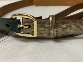 Lauren by Ralph Lauren Cintura di pelle oro Pelle