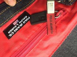 Ralph Lauren Borsa con manico blu scuro-rosso