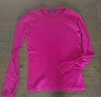 Ralph lauren longsleeve, Pink, Gerippt, Logo, Gr. L