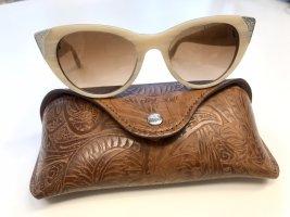 Ralph Lauren Gafas de sol ovaladas crema-color plata
