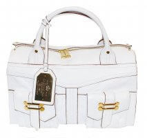 Ralph Lauren Bowling Bag white leather