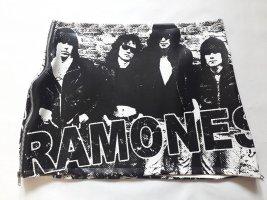 Ramones Minirock schwarz weiß Punk Rock mit Band Schriftzug Ultramini punkig Gr. 36/38 wie Neu