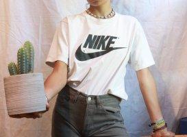 rare 90s nike shirt print white swoosh true vintage red tag Before 2000s y2k tshirt