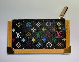 Rare Authentic Louis Vuitton multi colour Pochette cles wallet coin key