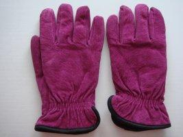 Leren handschoenen violet Leer